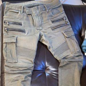 BALMAIN Men's Cargo Style Jeans